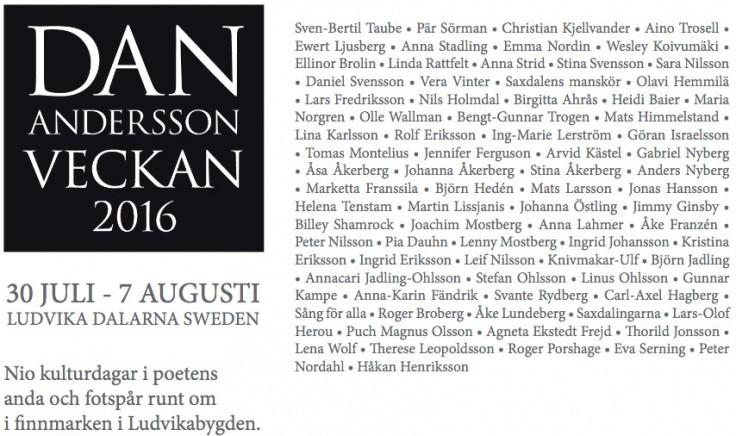 Dan Andersson programmet